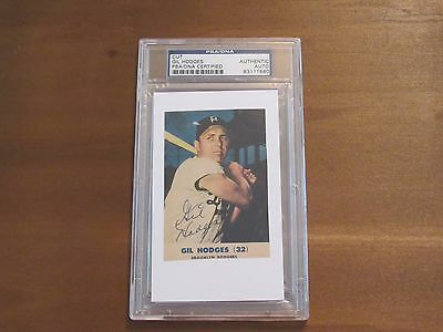 Gil Hodges 1969 Wsc Ny Mets Manager Dodgers Signed Auto Photo Cut Psa/dna D72