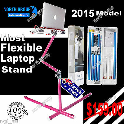 Laptop Computer Notebook Aluminum Adjustable Stand Kit+mouse Pad Desk Table Desk