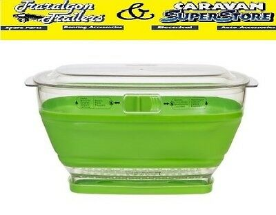 Collapsible produce keeper container storage bowl with lid fruit vegie ACC290