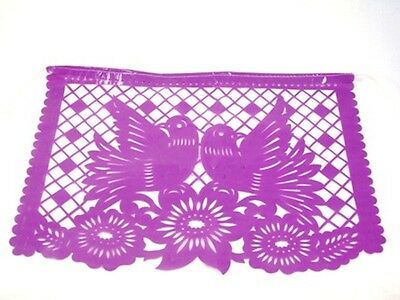 Set of five (5) party fiesta theme Mexican papel picado banners bunting plastic