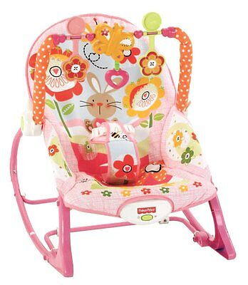 Fisher-Price Infant To Toddler Rocker, Bunny , Y4544,Adorable bunny print rocker