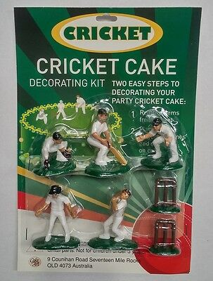 Australian Cricket Team Cake Topper Plastic Decoration Set 7 Pieces