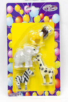 Jungle Safari Animal Novelty Candles Birthday Cake Decoration 4 Animal