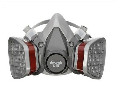 3M 6200 N95 Double Gas Mask Protection Filter Smoke Chemical Respirator Mask