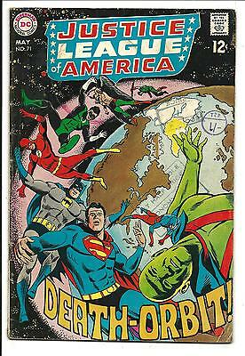Justice League Of America # 71 (Death Orbit, May 1969), Vg/fn