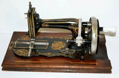 c1910s Winselmann Titan Fiddle Base Hand Crank Sewing Machine - FREE P&P [1997]