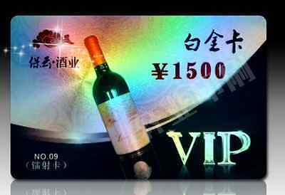 Expedite 500 0.76mm PVC Plastic VIP / Thick Business Cards Printing - Hologram