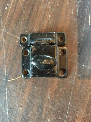 D 21 Antique Cast-Iron Painted Sheet Metal Cabinet Latch