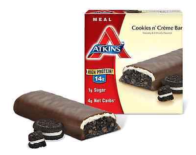 Atkins Advantage Meal Cookies n' Creme - 5 Bars, Low Carb, High Protein