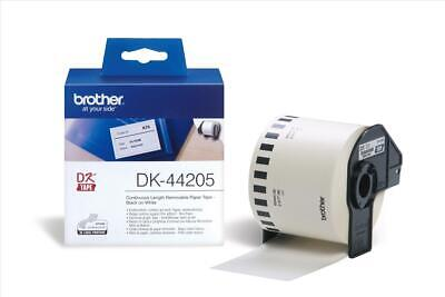 Brother P-touch DK-44205 (62mm x 30.48m) Continuous Removable White Paper Tape