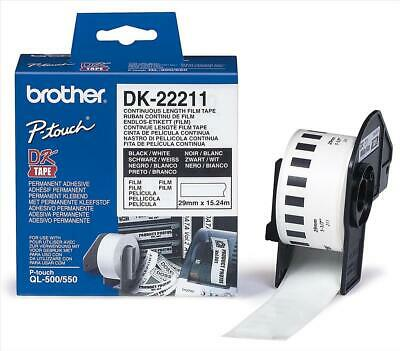 Brother DK Labels DK-22211 (29mm x 15.2m) Continuous White Film Tape