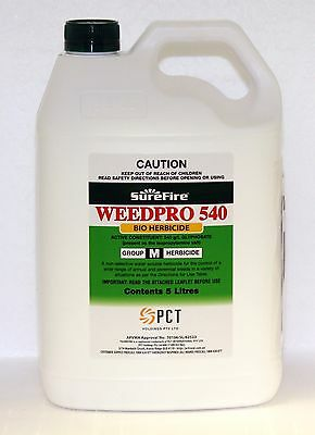 GLYPHOSATE 540 WEEDPRO HERBICIDE CONCENTRATE 5-Litre (Equiv. Roundup Powermax)