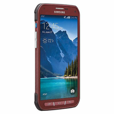 Samsung Galaxy S5 Active SM-G870A 16GB Red (AT&T) Unlocked Smartphone