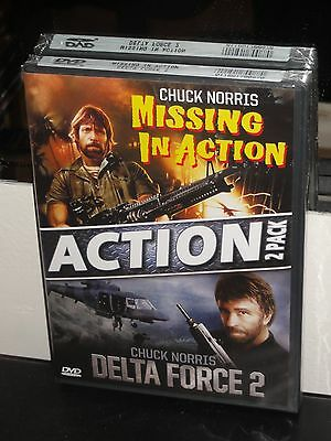 Missing in Action / Delta Force 2 (DVD) Chuck Norris, Lee Marvin, BRAND NEW!