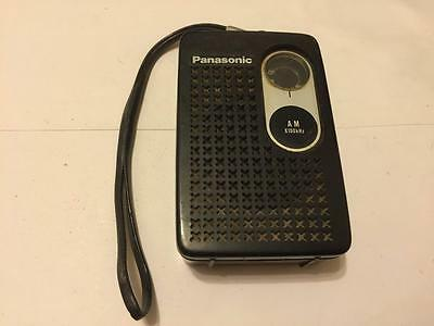 Vintage Panasonic R-1013 Black Transistor Radio Works