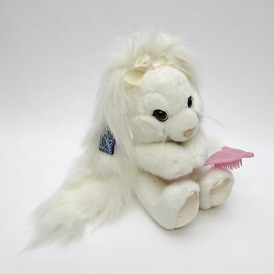 "VTG 9"" Applause Bunny Rabbit Plush Hare & Hair Brush White with Pink Brush"
