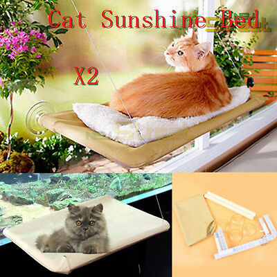 2x Cat Window Wall Mounted Bed Seat Pet Sunny catling kitling Hammock Cover New