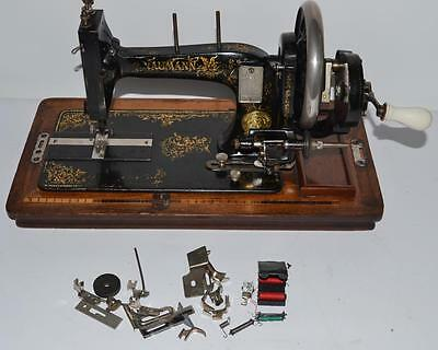 Antique SIEDEL & NAUMANN Hand Crank Sewing Machine - FREE Delivery [PL2003]