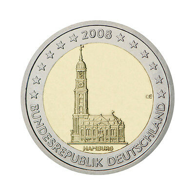 "Germany 2 Euro commemorative coin 2008 ""Hamburg"" - mintmark G - UNC"