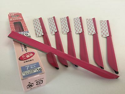 F/S Daiso Japan Kai Long Handle Razor for Ladies 7pcs Make Up Made in Japan