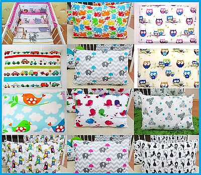 BABY COT BED PILLOW CASE 100% Cotton 40x60cm
