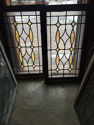 Sg 639 2 Available Priced Separate Antique Stainglass Window