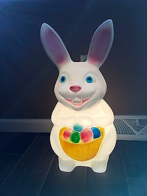 "Vintage Empire 23"" Blowmold Lighted Easter Bunny- Great Condition!"