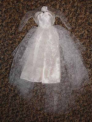 Vintage Barbie Wedding Day Dress #972 - Repaired & Excellent
