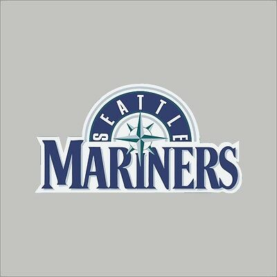 Seattle Mariners #4 MLB Team Logo 1 Color Vinyl Decal Sticker Car Window Wall
