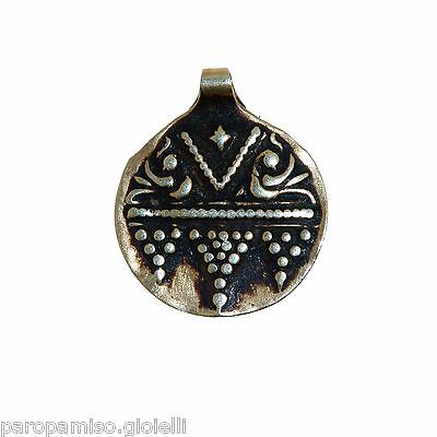 Antique Indian Pendant in Gold - Rajasthan - (1014)