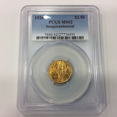 1926 $2.50 Sesquicentenial Gold PCGS MS62