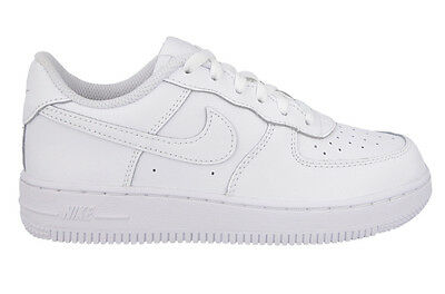 Nike Air Force 1 Low White Leather Ps Sz 11C - 3Y  * 314193-117 *