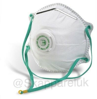 10 x VALVED DUST MASKS P1 Safety Diy Face Mask Respiratory Protection