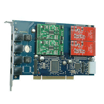 TDM410P 2FXO+2FXS Asterisk card PCI card for elastix trixbox freepbx voip pbx