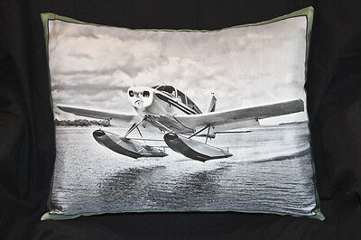 Piper Cherokee PA-28-160 On Edo 2000 Floats Canvas Decorator Aircraft Pillow