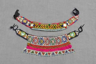 Belt 2x Kuchi Afghan Ethnic Boho Hippie Handmade Beads Cowry Wholesale Lot -55