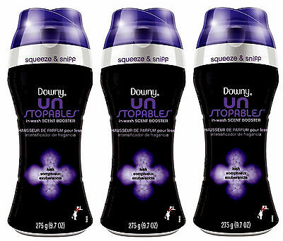 Downy Unstopables In-Wash Scent Booster LUSH Deodorizer 9.7 Oz Each 3 Packs NEW