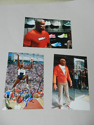 CARL LEWIS (USA) OS 1984-96 9 x 1. LA signed In-Person Foto 10x15 Autogramm
