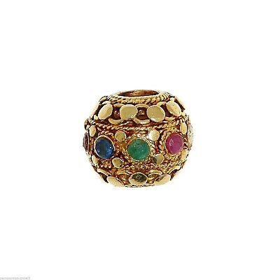 Antique Indian Element for Jewelry - NAVA RATNA BEAD   -   (1011)