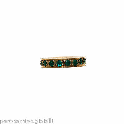 Vintage Indian Element for Jewelry - Gold and Emeralds    -   (1016)