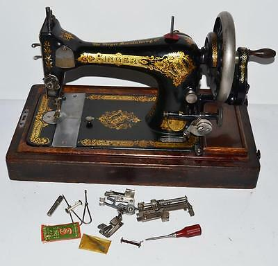 c1910 Singer 28K Hand Crank Sewing Machine - FREE Delivery [PL2005]
