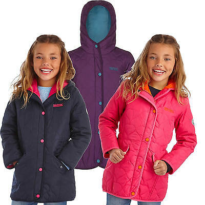 Regatta Tickitiboo Girls Quilted Jacket Hooded Lightly Insulated Coat