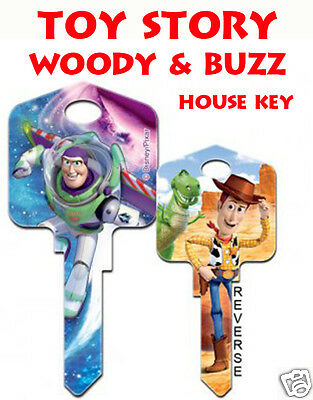 Toy Story Woody & Buzz Disney Collectible Uncut House Key Blank  !!!!!!!!!!!!!!