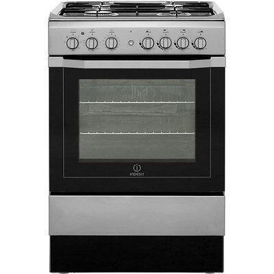 Indesit I6G52X Dual Fuel Cooker with Gas Hob Free Standing 60cm Stainless Steel