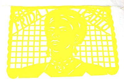 Frida Kahlo theme Mexican papel picado banner bunting plastic 5 metre