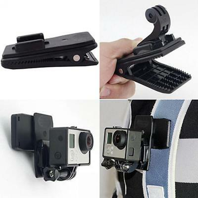 360°Rotary Release Backpack Belt Hat Clip Mount Clamp For GoPro Hero 4 3+ 3 2