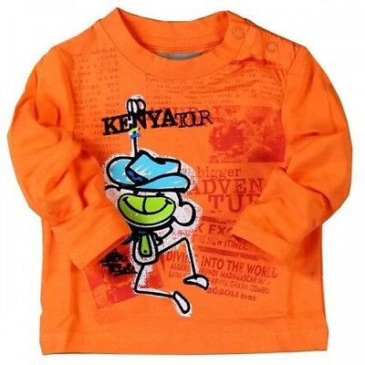 *new* Baby Boys Boboli Knit Tshirt Orange Summer 348005 Spanish Top Brand