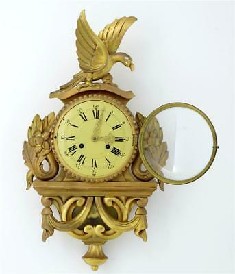 20Th Century German Gilt Carved Wood Wall Clock