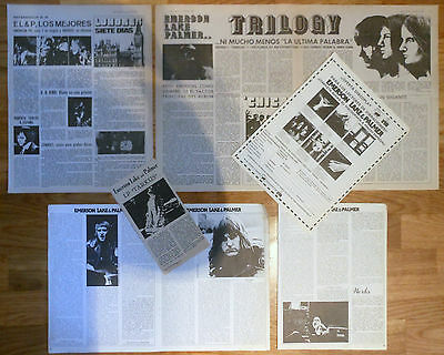 EMERSON LAKE & PALMER spanish clippings 1970s photos magazine articles