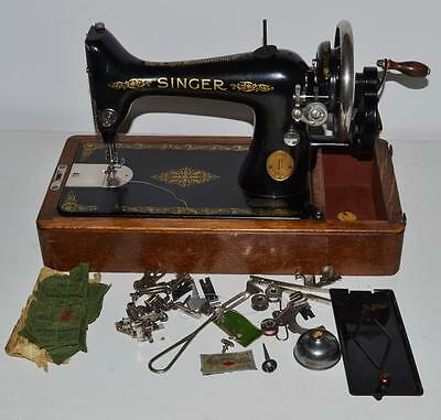 1920's Singer 99 Hand Crank Sewing Machine - FREE Delivery [PL2006] • EUR 184,92